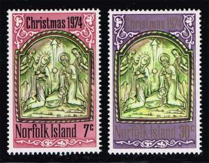 Norfolk Island #179-180 Christmas Set of 2; MNH (1.80)