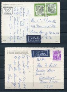 Austria 2 Postal Cards To USA