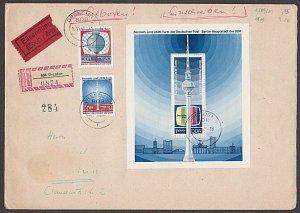 EAST GERMANY 1969 Registered cover - great franking.........................B372
