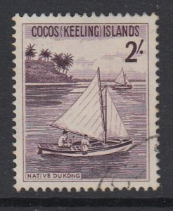 COCOS ISLANDS, Scott 5, used