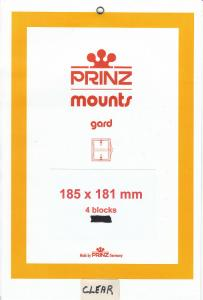 PRINZ CLEAR MOUNTS 185X181 (4) RETAIL PRICE $10.50