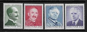 Faroe Is #108-11 MNH Set - Poets