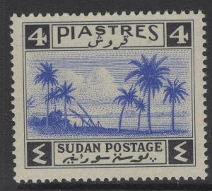 SUDAN SG90 1941 4p ULTRAMARINE & BLACK MNH