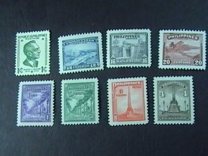 PHILIPPINES # 504-511-MINT/NEVER HINGED---11 STAMPS---1947