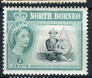 NORTH BORNEO; 1961 early QEII pictorial issue fine Mint hinged 6c. value