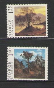 Norway Sc 683-4 1976 Painting stamps mint  NH