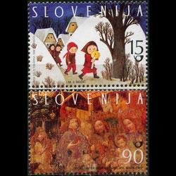 SLOVENIA 1998 - Scott# 335-6 Christmas Set of 2 NH
