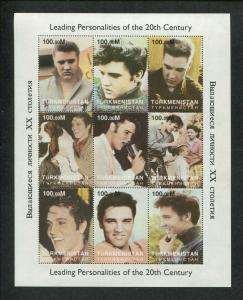 Turkmenistan Commemorative Souvenir Stamp Sheet - Elvis Presley Memories