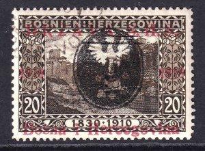 BOSNIA & HERZEGOVINA SCARCE POLAND EAGLE OVERPRINT #4 CDS VF SOUND