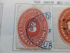 A8P45F11 Mexico 1887 3c perf 12 fine used stamp