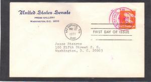 Senate 1743 13c Eagle (No Cachet-Typed/A) CV40461