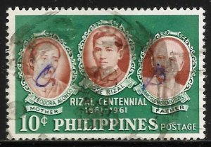 Philippines 1961 Scott# 838 Used O.B. Official Business (creased)