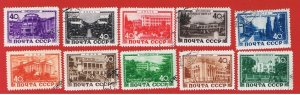 Russia #1366-1375  VF used  Various Scenes