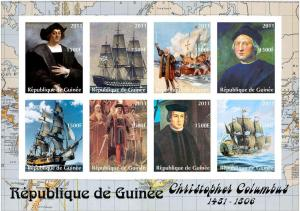 GUINEE GUINEA SHEET IMPERF CINDERELLA COLUMBUS COLON