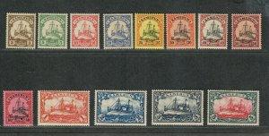 German Occupation Cameroun Sc#7-19 M/H/VF, Unwmk, Cv. $308