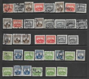 Finland 156-8,159-60 used sets, see description f-vf. 2018 CV $151.10