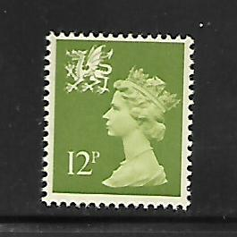 WALES & MONMOUTHSHIRE, WMMH18,  MNH,  MACHINS ISSUE