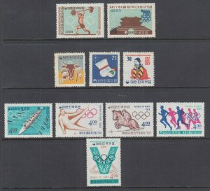 Korea Sc 309/353 MLH. 1960-1964 issues, 3 complete sets, F-VF