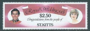 St Kitts, Sc #77, $2.50 MH