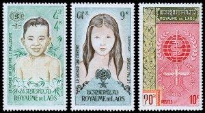 Laos Scott 74-76 (1962) Mint NH VF Complete Set W