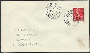GB SCOTLAND 1971 cover STRONSAY / ORKNEY cds................................1192