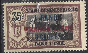 French India 1941 SC 115a Signed Roumet Mint SCV$ 125.00