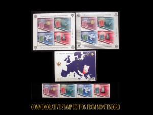 MONTENEGRO. 50th ANNIVERSARY EUROPA FIRST STAMPS. SCOTT # 129 - 130. MNH