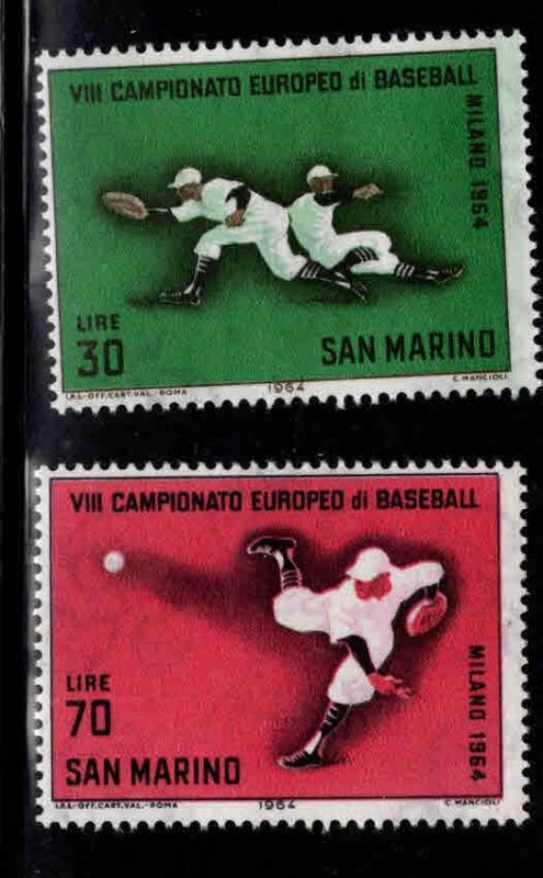 San Marino Scott604-605 MNH** 1964  baseball set