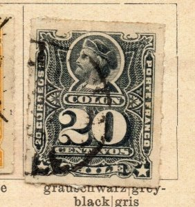 Chile 1880-85 Early Issue Fine Used 20c. NW-09260
