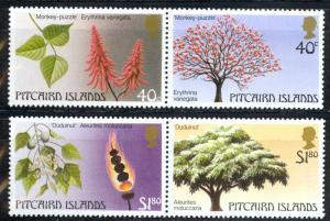 Pitcairn Islands Sc# 289-290 MNH Pair 1987 Trees