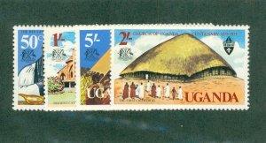 UGANDA 171-174 MH BIN$ 1.25