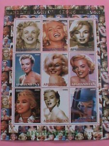 AFGHANISTAN STAMP-2000- SEXY MARILYN MONROE   -MNH STAMP SHEET -RARE