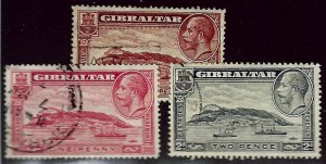 Gibraltar SC#96-98 Used F-VF hr...Worth a Close Look!