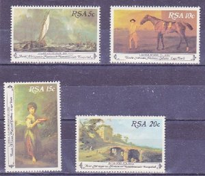 South Africa MNH 538-41 Art Paintings By Velde