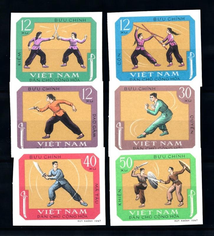 [92123] North Vietnam 1968 Asian traditional Fighting Sports Imperf. Set MNH