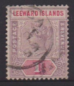 Leeward Islands Sc#2 Used - Postmark Cancel Dominica