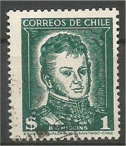 CHILE, 1952  used 1pc ,O'Higgin Scott 265