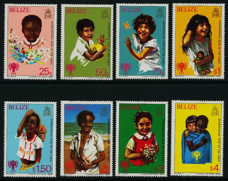 Belize 490-7 MNH Christmas, International Year of the Child, IYC