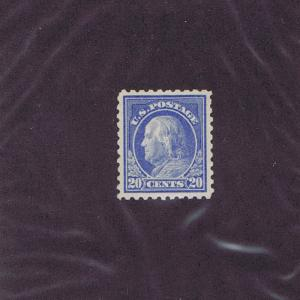 SC# 438 UNUSED MINT OG NH 20c FRANKLIN, 1914, 2017 PSAG CERT, GRADED 100 PERFECT