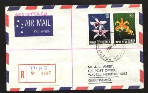 PAPUA NEW GUINEA 1975 Registered cover ex MINJ.............................90803