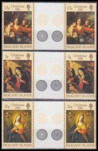 1981 Falkland Islands 333-335x2+Tab Artist / G. Reni