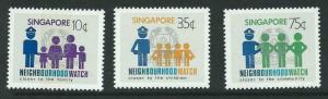 SINGAPORE SG451/3 1983 NEIGHBOURHOOD WATCH MNH