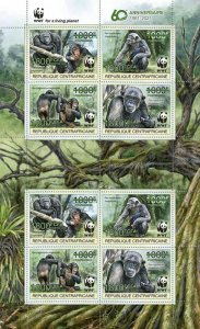 Stamps of CENTRAL AFRICAN REP. 2021 - WWF 60 YEARS