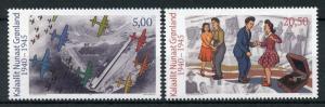 Greenland 2018 MNH WWII WW2 During World War II 2v Set Dance Aviation Stamps