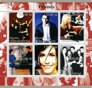 Turkmenistan 2000 Friends TV series Sheet Perforated mnh.vf
