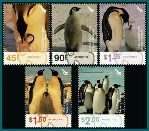 Ross Dependency 2004 Emperor Penguins, MNH L84-L88,SG89-SG93