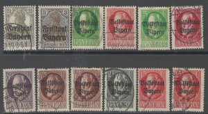 COLLECTION LOT # 2883 BAVARIA 12 STAMPS 1919 CLEARANCE CV=$24