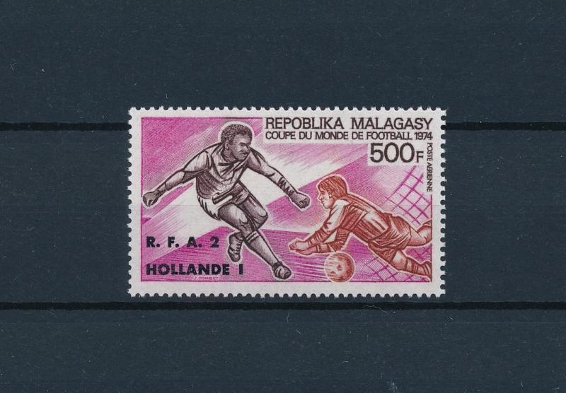 [60814] Madagascar Malagasy 1974 World Cup Soccer Football with overprint MNH