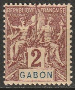 Gabon 1904 Sc 17 Yt 17 MH*