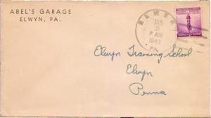 United States Pennsylvania Elwyn 1943 4f-bar  1880-1960.